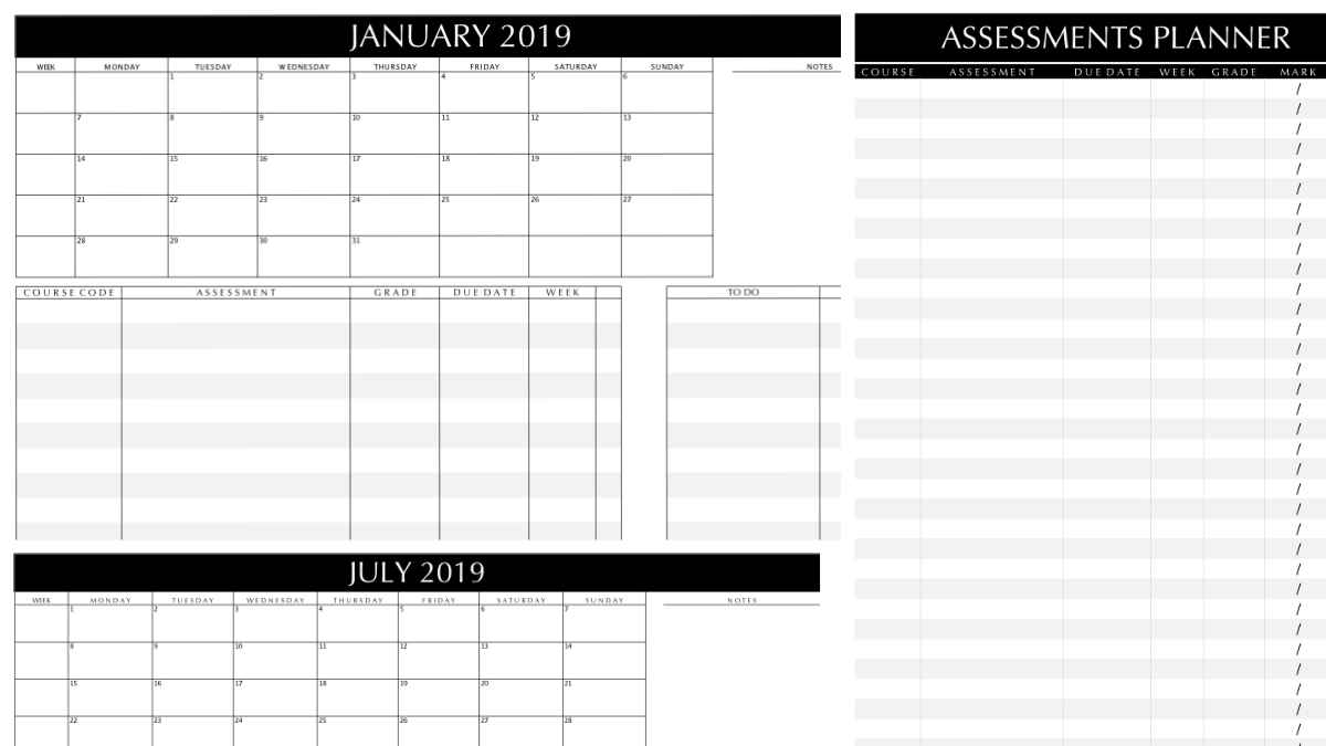 2019 Study Planner Printable | Magazine | Roadmap+